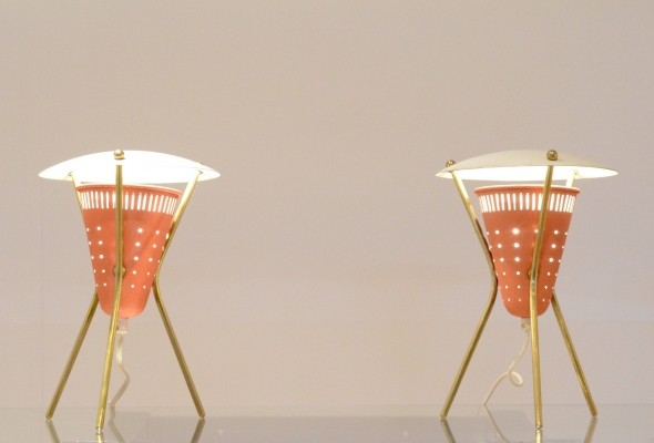 Set of 2 desk lamps from the fifties by unknown designer for unknown producer