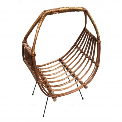 Wicker Magazine Holder 1950s