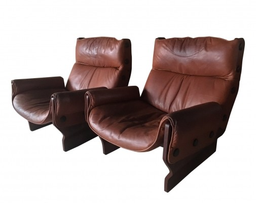 2 Canada chair P110 lounge chairs from the sixties by Osvaldo Borsani for Tecno