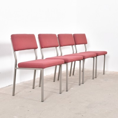 Set of 4 dinner chairs from the fifties by Martin Visser for unknown producer