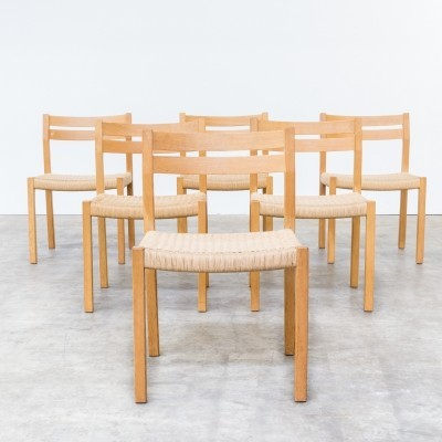 Set of 6 dinner chairs from the seventies by Niels Otto Møller for J L Møller