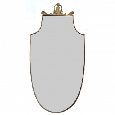 Brass Mirror Shield 1950s