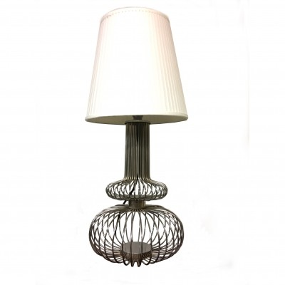 Steel wires table lamp 1970s