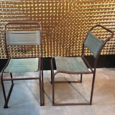 Set of 2 dinner chairs from the thirties by Bruno Pollak for P E L