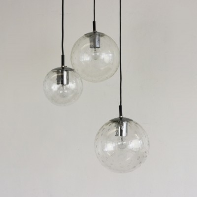 Glass globe pendants by Raak Amsterdam, 1960s