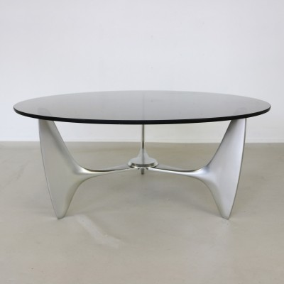 Organic cast aluminium coffee table, 1960s