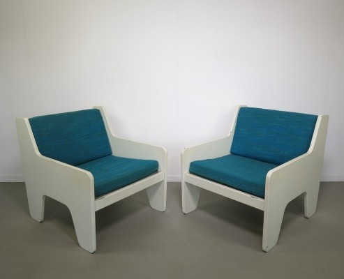 Set of 2 lounge chairs from the sixties by Rob Parry for Gelderland