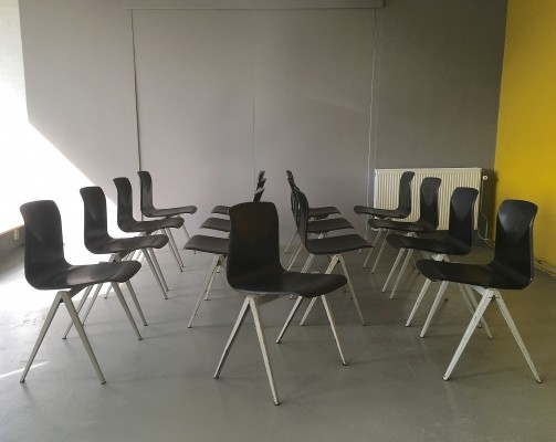 15 S22 dinner chairs from the sixties by unknown designer for Pagholz