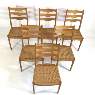 Set of 6 dinner chairs from the sixties by unknown designer for unknown producer
