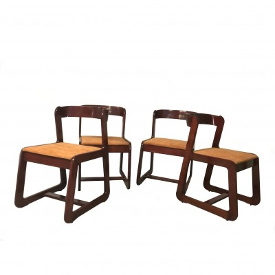 Set of 4 Chairs by Mario Sabot for Willy Rizzo, 1970s