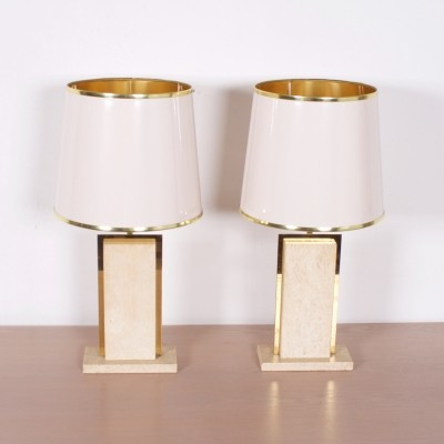 Set of 2 desk lamps from the sixties by Willy Rizzo for Stone International Italy