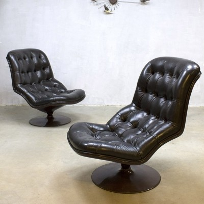 2 lounge chairs from the seventies by Georges Van Rijck for Beaufort