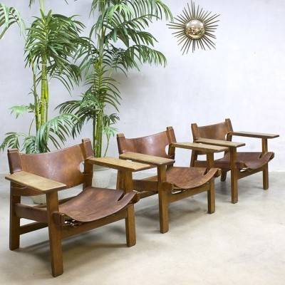 3 x lounge chair by Børge Mogensen for Fredericia, 1970s