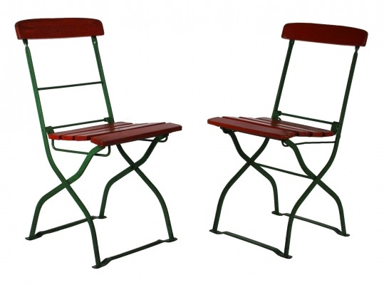 Set of 2 dinner chairs from the twenties by unknown designer for unknown producer