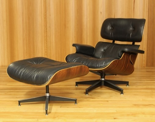 Model 670, Model 671 lounge chair from the seventies by Charles & Ray Eames for Herman Miller