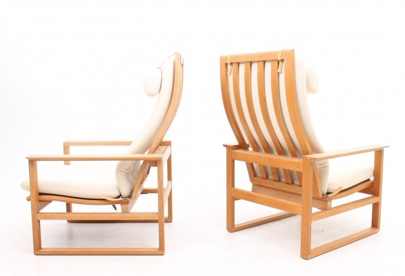 Set of 2 Model 2254 lounge chairs from the fifties by Børge Mogensen for Fredericia Stolefabrik