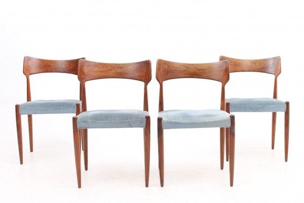 Set of 4 dinner chairs from the fifties by Henry Rosengren for Brande Møbelfabrik