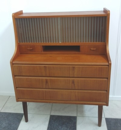 Writing desk secretaire cabinet from the sixties by unknown designer for unknown producer