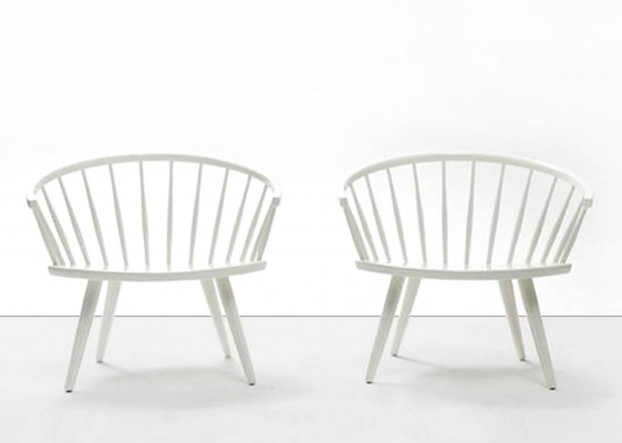 2 Arka arm chairs from the fifties by Yngve Ekström for Stolab