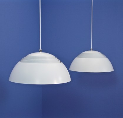 8 AJ Royal hanging lamps from the sixties by Arne Jacobsen for Louis Poulsen
