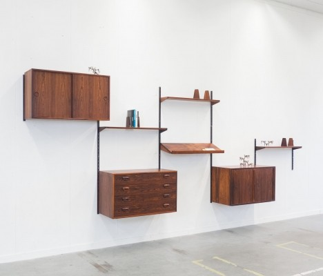 Wall unit from the fifties by Kai Kristiansen for Feldballes Møbelfabrik
