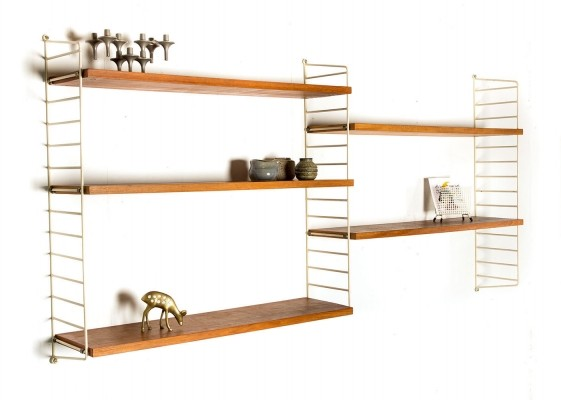 Wall unit by Nisse Strinning & Kajsa Strinning for String Design AB, 1950s