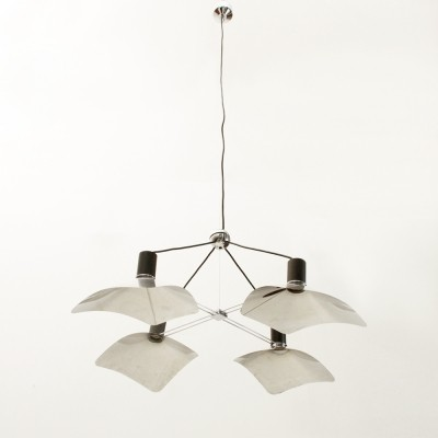 Corolla hanging lamp from the seventies by Giovanni Grignani for Luci