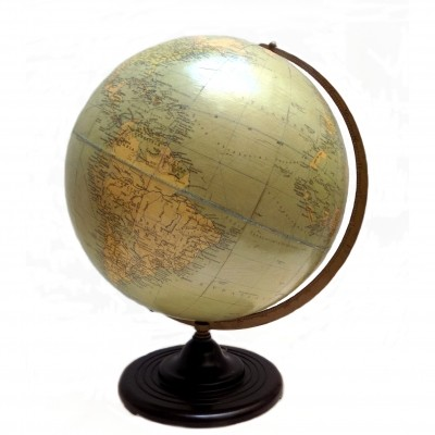 Map of the world signed Philips Gordglobe 1950s