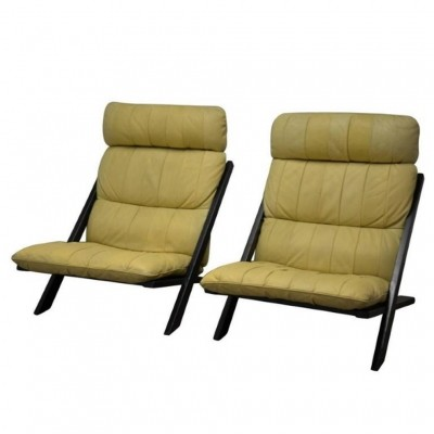 Set of 2 lounge chairs from the seventies by Ueli Berger for De Sede