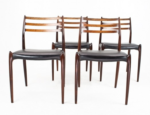 4 x Model 78 dining chair by Niels O. Møller for J. T. Møller Møbelfabrik, 1960s