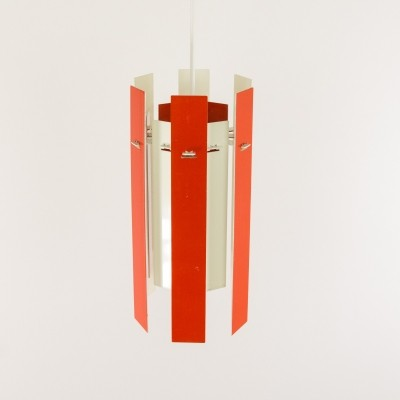Cocktail pendant by Henning Rehhof for Fog & Mørup in red & white, 1970s