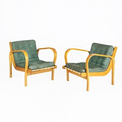 Pair of arm chairs by K. Kozelka & A. Kropacek for Interier Praha, 1940s
