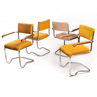 Set of 4 dinner chairs from the thirties by Ladislav Žák for Hynek Gottwald