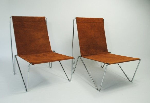 2 Bachelor lounge chairs from the fifties by Verner Panton for Fritz Hansen