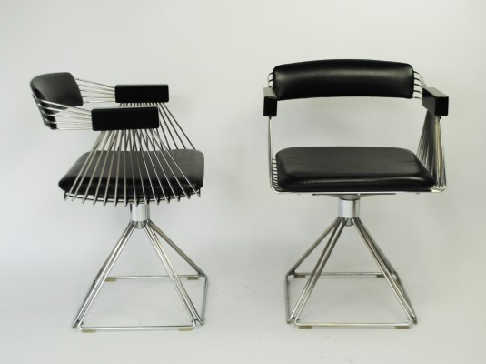 2 Delta dinner chairs from the seventies by Rudi Verelst for Novalux