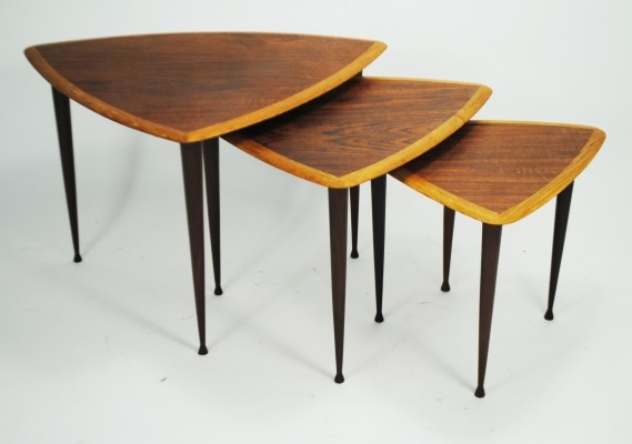 Nesting table from the fifties by unknown designer for unknown producer