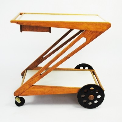 Mobilo (PE03) serving trolley from the fifties by Cees Braakman for Pastoe