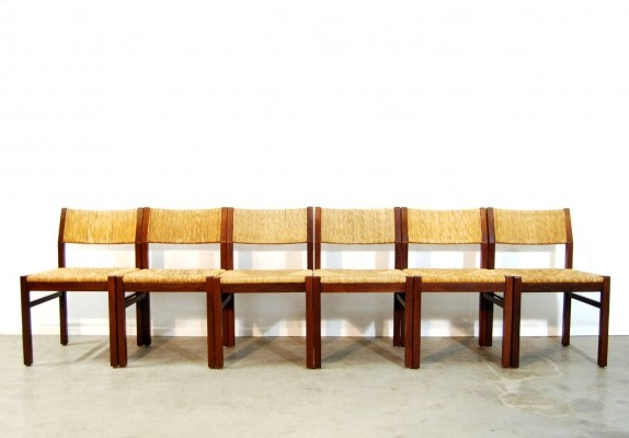 6 Se82 dinner chairs from the sixties by unknown designer for Pastoe