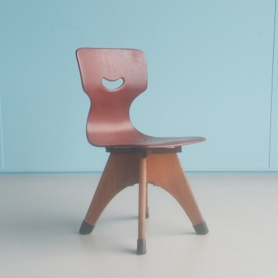 15114 Chair children furniture from the fifties by Adam Stegner for Pagholz Flötotto