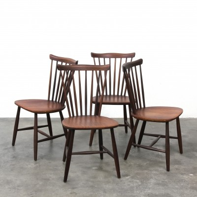 Set of 4 SH41 Nesto dining chairs by Yngve Ekstrom for Pastoe, 1960s