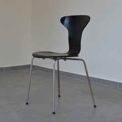 5 Mosquito dinner chairs from the fifties by Arne Jacobsen for Fritz Hansen