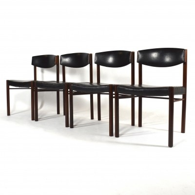 Midcentury rosewood dining chairs for Pastoe, The Netherlands 1950s