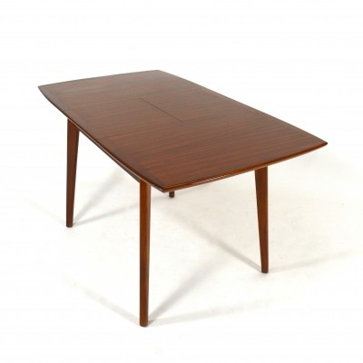Teak dining table by Louis van Teeffelen for Wébé, The Netherlands 1950s
