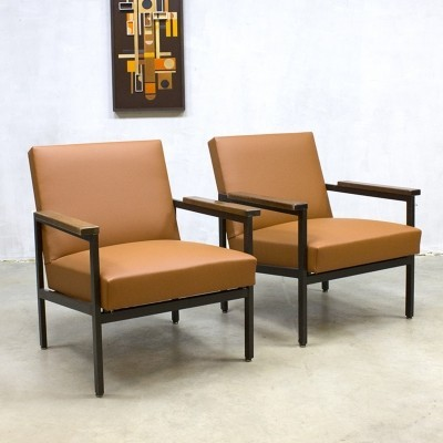 2 arm chairs from the sixties by Gijs van der Sluis for unknown producer