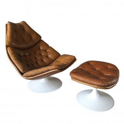 F 599 with ottoman lounge chair from the seventies by Geoffrey Harcourt for Artifort