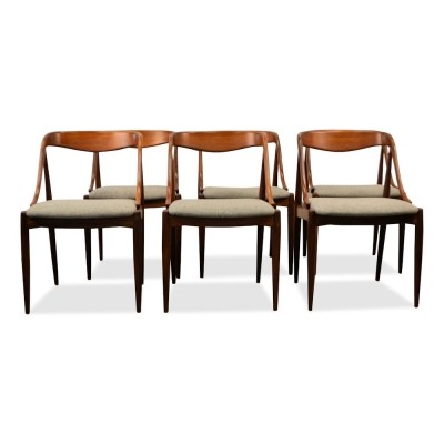 Set of 6 dinner chairs from the fifties by Johannes Andersen for Uldum Møbelfabrik