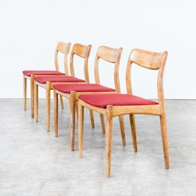 Set of 4 dinner chairs from the sixties by Niels Bach for unknown producer