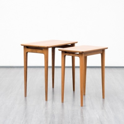 Set of 2 nesting tables from the sixties by unknown designer for unknown producer