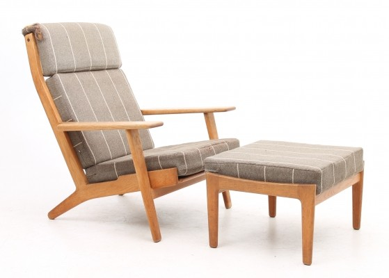 GE290H & stool lounge chair from the fifties by Hans Wegner for Getama