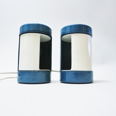 Pair of Laura desk lamps by Olaf von Bohr & Diego Valenti for Metal Frames, 1970s